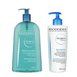 Bioderma Atoderm Shower Gel 1l+ Cream 500ml