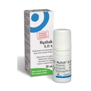 Hyabak Soluzione Per L Idratazione E Lubrificazione Occhio E Lenti A Contatto 10ml