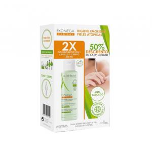 Gel detergente A-Derma Exomega Control 2 in 1 Capelli E Corpo 2x500ml