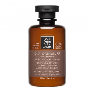 Apivita Oily Dandruff Shampoo With White Willow And Propolis 250ml