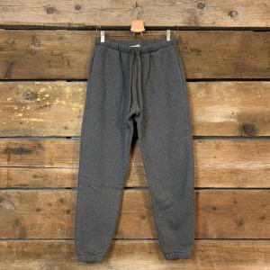 Pantalone American Vintage Jogging in Cotone Felpato Grigio Antracite
