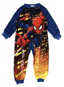 Pigiama intero Spiderman da 3 a 8 anni colore blu e rosso