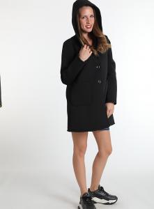 Cappottino nero | vendita cappotti di neoprene online