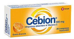 Cebion Integratore Vitamina C 500 mg Gusto Arancia-20 compresse masticabili