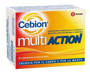 Cebion Multiaction Integratore Tonico ed Energizzante 20 Compresse Effervescenti