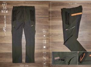Pantalone elasticizzato con rinforzi