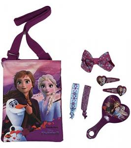 Frozen II Borsa + Accessori Capelli + Specchio Set regalo scatola regalo