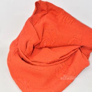 Cover Sofa Orange Flowers A 3