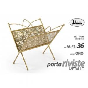 Gicos Porta Riviste Gold 36x31x36 cm In Metallo Ideale Per Salotto Arredo