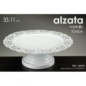 Alzata Bianca Metallo Dm33 H11cm
