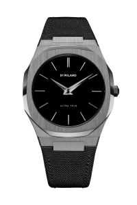D1 Milano Ultra Thin Nylon 40 mm Gun Metal – UTNJ02