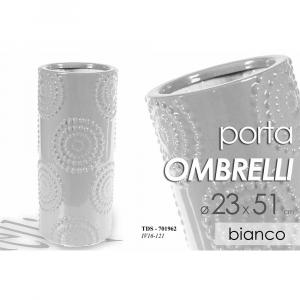 Portaombrelli in Ceramica Bianca Borchiato