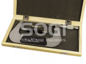 MICROMETRO CENTESIMALE PER ESTERNI L=100-125 mm. SOGI TERMINALI CROMATI MIC-100-125 CALIBRO ESTERNI