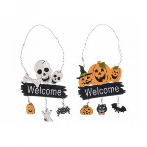 Set 6 scritte insegne Welcome Halloween da appendere