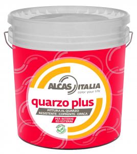 Alcas quarzo plus 14lt bianco pittura al quarzo per interni ed esterni