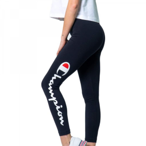 Leggings Champion Logo Nero da Donna
