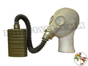 Maschera antigas Polacca M41 con borsa, filtro e corugato