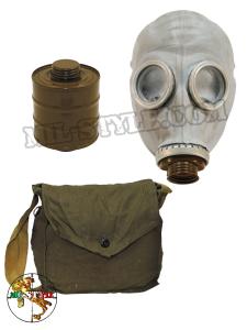 Maschera antigas Russa GP5 grigia con borsa e filtro