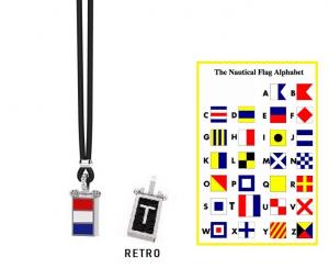 Zancan Collana Nautica, Bandiera Alfabeto Nautico, Lettera T