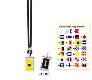 Zancan Collana Nautica (Bandiera Alfabeto Nautico, Lettera I)