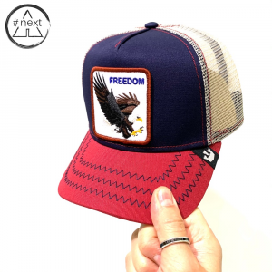 Goorin Bros - Animal Farm Truckers - Freedom blu rosso.