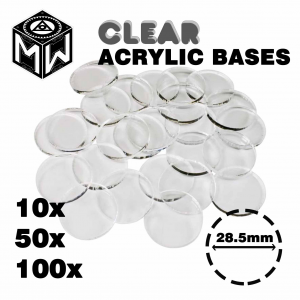 3mm Acrylic Clear Bases , Round 28.5mm