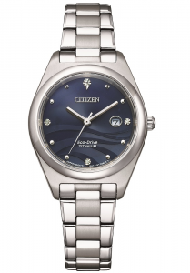 Citizen Lady Supertitanio, quadrante blu rosa con diamanti