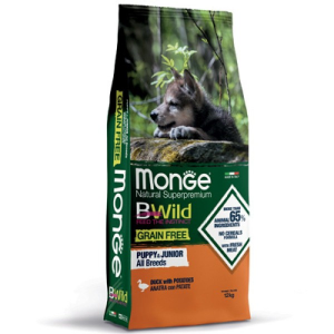MONGE B-WILD GRAIN FREE - ANATRA CON PATATE - PUPPY ALL BREED