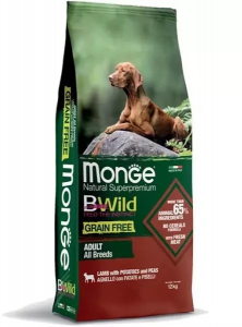 MONGE B-WILD GRAIN FREE - AGNELLO, PATATE E PISELLI - ADULT ALL BREED