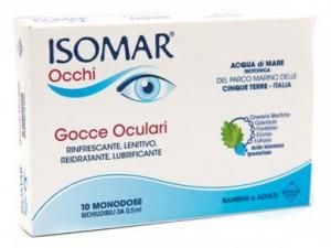 Isomar Occhi Soluzione Fisiologica 15 Flaconcini Monodoseda 0,5 ml. Acqua di Mare