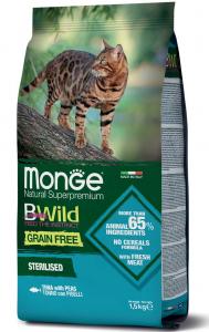 MONGE B-WILD GRAIN FREE - TONNO CON PISELLI - STERILISED 1,5 KG
