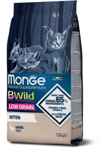 MONGE B-WILD LOW GRAIN - OCA - KITTEN 1,5 KG