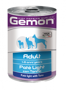 GEMON ADULT LIGHT - PATE' CON TONNO 400 GR