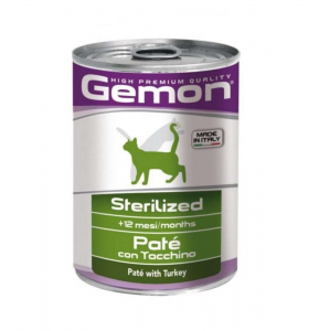 GEMON CAT PATE' STERILISED TACCHINO