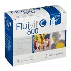 Fluivit C 600 Integratore Area Respiratoria Arancia Con Vitamina C, 14 Buste