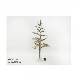 General Trade Albero Di Natale Innevato 130cm Con Led