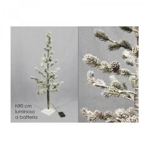 General Trade Albero Di Natale Innevato 90cm 25 Led