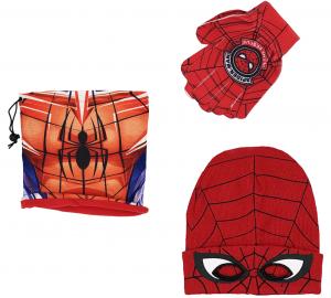 Cappello + Scaldacollo + Guantini Spiderman Veste da 3 a 8 Anni Inverno 2021