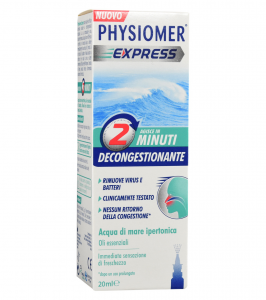 Physiomer Express-Spray nasale 20 ml. Decongestionante Acqua di Mare Ipertonica
