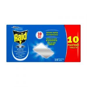 RAID Piastrine Antizanzare X 10