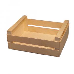 Cassetta media in legno a listelli alta