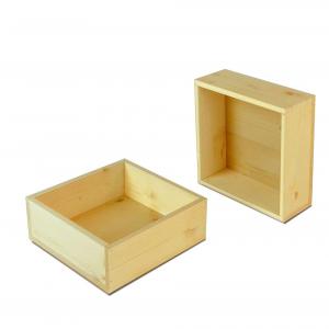 Cassetta in legno di Abete quadrata