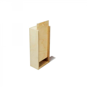 Scatola in legno con coperchio scorrevole 19x7,6