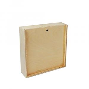Scatola in legno con coperchio scorrevole 19x18,2