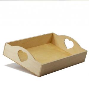 Vassoio cuore piccolo in legno di Betulla