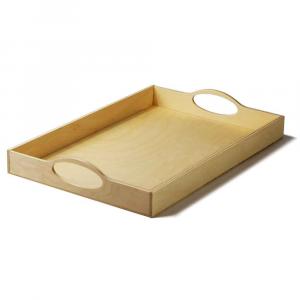 Vassoio ellisse grande in legno di Betulla