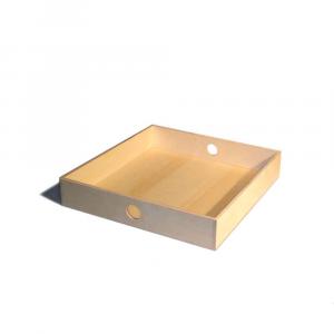 Vassoio quadrato grande in legno di Betulla