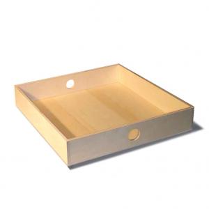 Vassoio quadrato piccolo in legno di Betulla