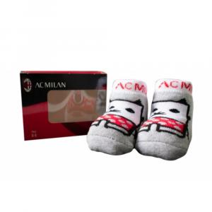 Scarpina calzini 0/3 mesi Milan confezione idea regalo