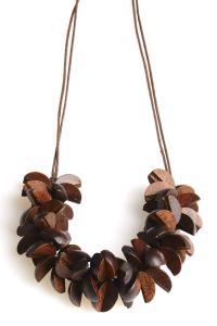Collana in legno marrone | Collane etniche online